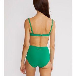 c3d392c2c80ff Cynthia Rowley Swim - Cynthia Rowley Green Fiji Bikini Top